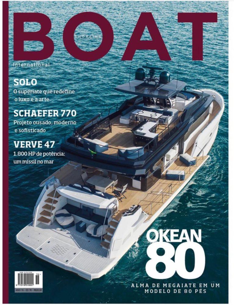Okean 80 na capa da revista, Yachtmax